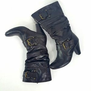 Shoes - Cassidy Brown Calf High Heeled Boots 6M